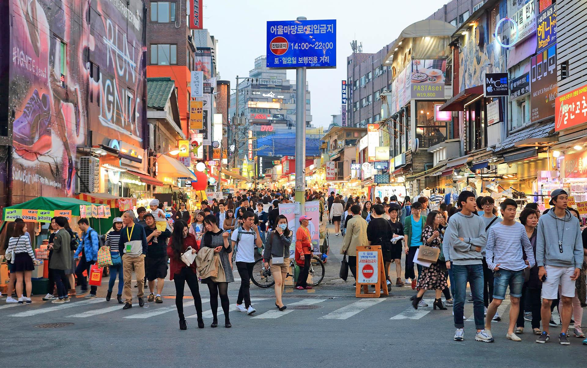 Phố Hongdae- du lịch Hàn Quốc giá rẻ