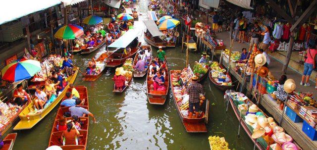 Khu chợ nổi - nổi bật trong tour du lịch Thái Lan