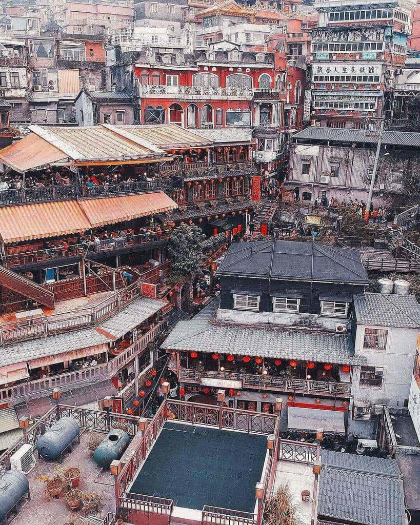 làng cổ jiufen- thu hút khách d lịch Đài Loan
